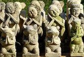 Carved Balinese prayer figures