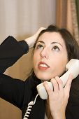 Frustrated Office Worker On Phone