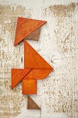 picture of tangram  - obesity concept  - JPG