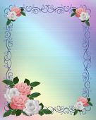 Roses Ornamental Invitation Border