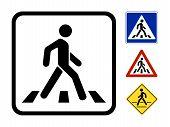 Vector símbolo pedestre