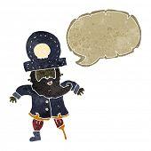 picture of peg-leg  - retro cartoon pirate captain - JPG