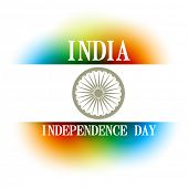 vector indian independence day design background