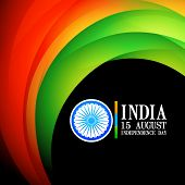 indian flag wave style background
