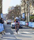 The Cyclist De Greef Francis- Paris Nice 2013 Prologue In Houilles