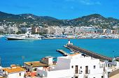 view of the port of Ibiza Town, in Ibiza, Balearic Islands, Spain