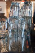 Stacked drinking glasses