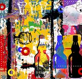 abstract drinking collage