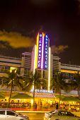 Night View At Ocean Drive At Breakwater Hotel