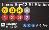 Times Square 42 St Subway Station entrance in NYC
