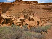 picture of pueblo  - Chaco Culture National Historic Park is located in northern New Mexico and features pueblo dwellings dating back 1 - JPG