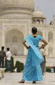 Indian Tourist at the Taj Mahal poster