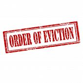 stock photo of eviction  - Grunge rubber stamp with text Order Of Eviction - JPG