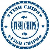 Fish Chips-stamp
