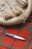 stock photo of kilt  - Scottish clan kilt - JPG