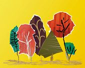 picture of applique  - Autumn vector landscape made  - JPG