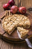 foto of pie-in-face  - apple pie - JPG