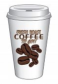 Coffee To Go Cup Design Fresh Roast