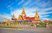 New National Assembly in Phnom Penh, Cambodia.