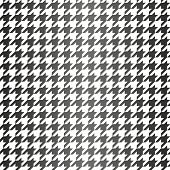 Houndstooth seamless black and white vector pattern. Traditional Scottish plaid fabric with gradient