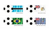 Football With Botswana, Antarctica, Brazil And Indian Ocean Flag
