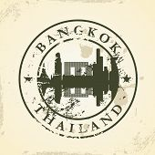 Grunge rubber stamp with Bangkok, Thailand - vector illustration