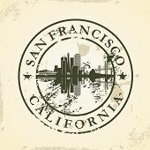 Grunge rubber stamp with San Francisco, California - vector illustration