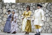 Spanish classical and popular dance, during the re-enactment of the War of Succession. September 4,