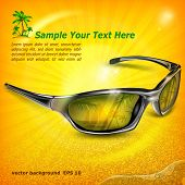 Sunglasses With Reflection On Yellow