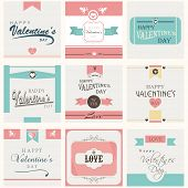 Happy Valentines Day post card set.