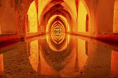 Baths Banos Of Dona Maria De Padilla Alcazar Royal Palace Seville Spain