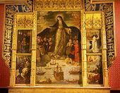 Madonna Mary Of The Seafarers Fernandez Painting Alcazar Royal Palace Seville Spain
