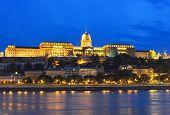 Buda Castle And Danube River At Night