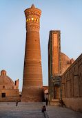 Evening View Of Kalon Mosque And Minaret - Bukhara - Uzbekistan