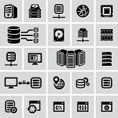 stock photo of workstation  - Server icons - JPG