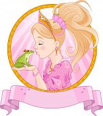 Fairytale Princess kissing a frog