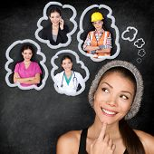 stock photo of blackboard  - Career choice options  - JPG