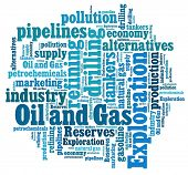 Oil and Gas Industry in word collage