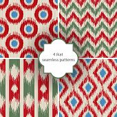 4 ikat seamless patterns