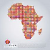 Dotted Map Design - Colorful Africa Map