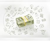 Money, business infographics vector