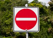 image of no entry  - No Entry Sign in Canada during the day - JPG