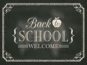 Back To School Vintage Chalk Board Background
