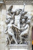 Paris. Sculptures On The Facade Of The Opera Garnier. Sculptural Group Dance