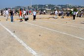 Marseille. France - August 20. 2012.  Sports & Recreation. Petanque Competitions. France. Marseille.