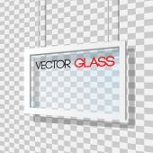 Glass frame vector illustration