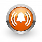 alarm orange glossy web icon