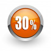 30 percent orange glossy web icon