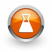 laboratory orange glossy web icon