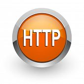 http orange glossy web icon